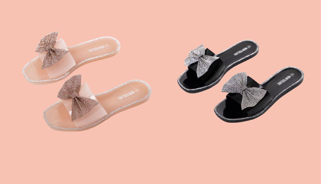 Jelly Sandals Princess Bow