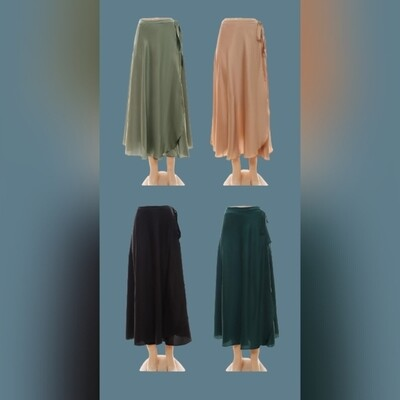 Go with the flow satin skirts
