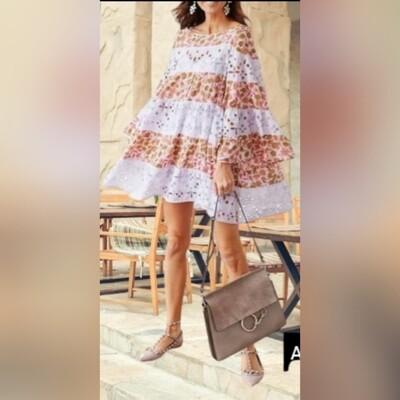 Cloè Baby Doll Anglaise Lace Boho Dress
