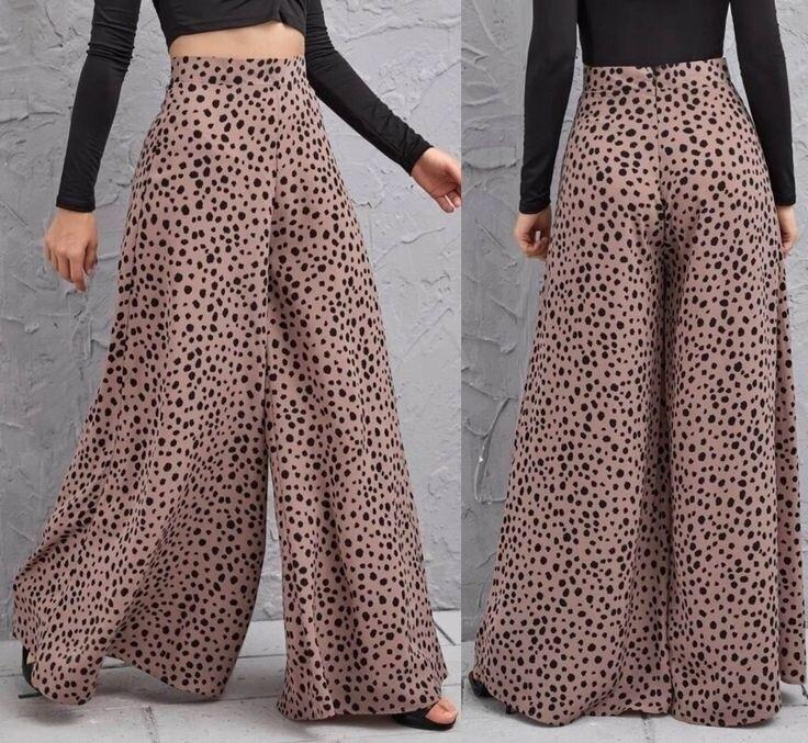 Wide leg Dotty pants