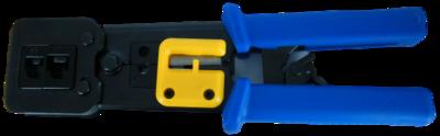 לוחץ לתקע RJ-45 לחיווט מהיר (לוחץ וחותך)