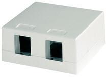 קופסא + מכסה כפול עהט Telegärtner