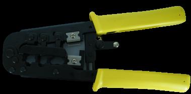 לוחץ משולב בזק/RJ-45 עם רצ'ט
