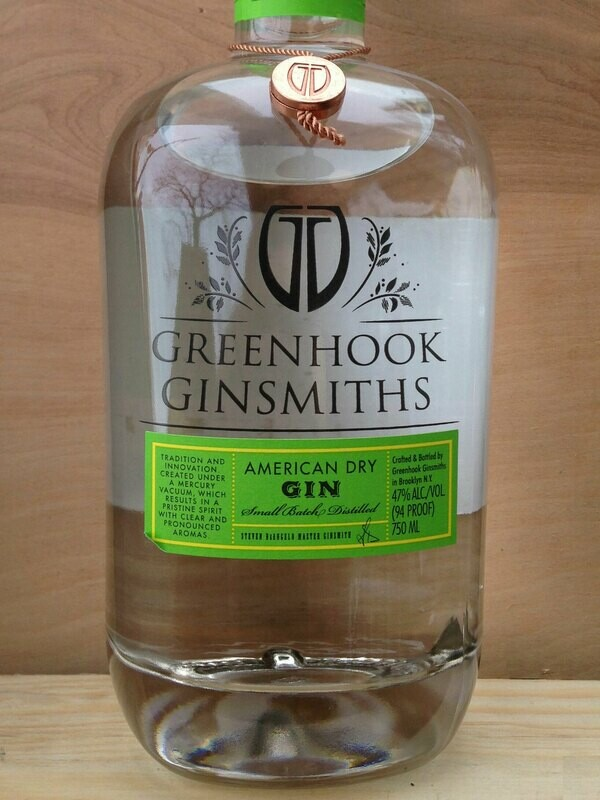 American Dry Gin Greenhook Ginsmiths