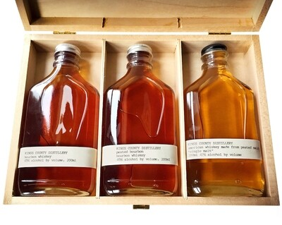 Kings County Gift 3 Pack Aged (Bourbon, Peated, Single Malt)