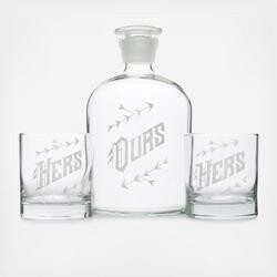 Decanter Set - Ours Hers and Hers