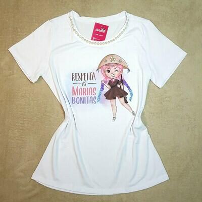 T-Shirt Adulto Branca Maria Bonita Tam G
