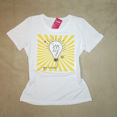 T-Shirt Adulto Branca Seja Luz Tam XG