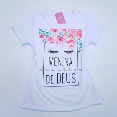 T-Shirt Adulto Menina dos Olhos de Deus Tam P