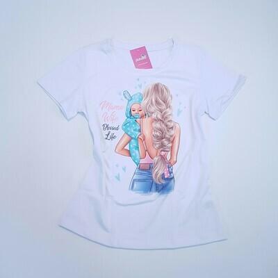 T-Shirt Adulto Mãe de menino Tam M