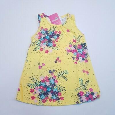 Vestido infantil com estampa Floral