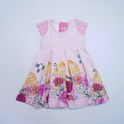 Vestido Tricknick Feminino Infantil Cor Rosa