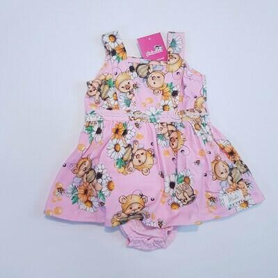 Vestido Body Bebê Cor Rosa