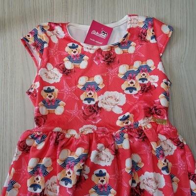 Vestido infantil Cor Cereja