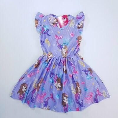 Vestido infantil Cor Lilás