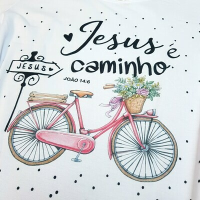 T-Shirt Adulto Jesus é o caminho Tam XG
