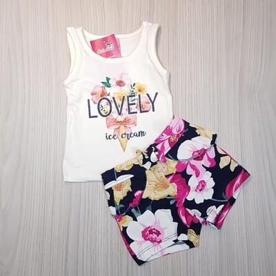 Conjunto Blusa e Short florido