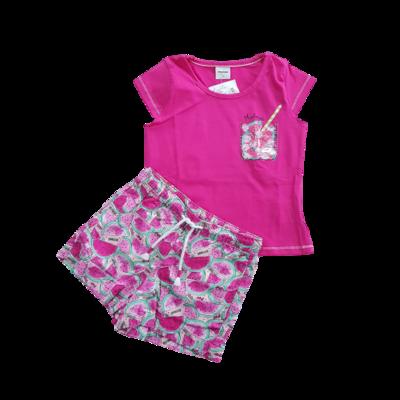 Conjunto Blusa e Short cor cereja