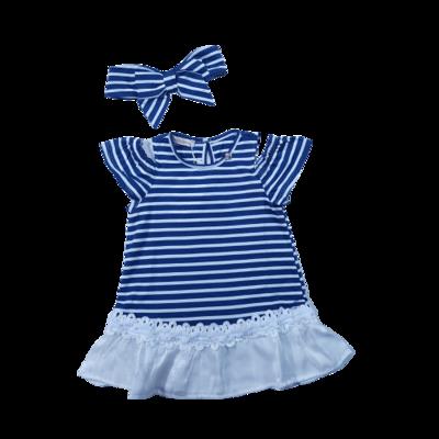 Vestido em malha stripe