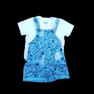 Conjunto Camiseta com Jardineira Rovitex