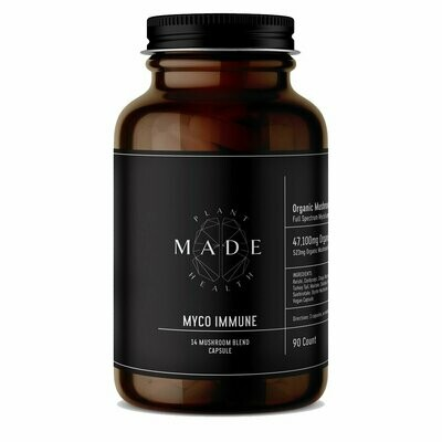 MADE Plant Health - Myco Immune 14 Mushroom Blend Capsules, 523mg/capsule - 90ct.
