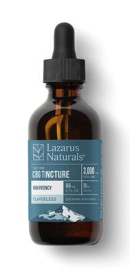 Lazarus Naturals 3000mg CBG Isolate Tincture, Flavorless - 60ml