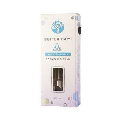 Creating Better Days 500mg Delta 8 THC Vape Cartridge - 1g
