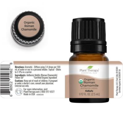 Plant Therapy® Organic Roman Chamomile Essential Oil, 1/12 fl oz (.25mL)