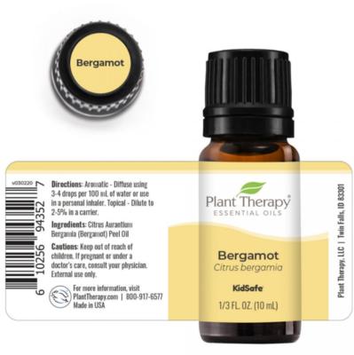 Plant Therapy® Bergamot Essential Oil, 1/3 fl oz (10mL)