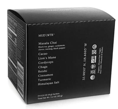 MUD\WTR Sachet Box, 15 — 6g serving pouches, 3.5oz total