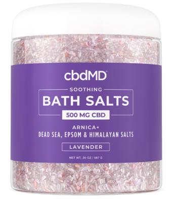 cbdMD 500mg Soothing Lavender CBD Bath Salts - 20 oz jar