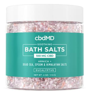 cbdMD 100mg Eucalyptus CBD Bath Salts - 4oz jar