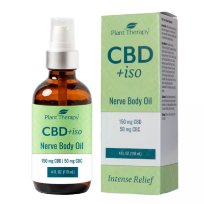 Plant Therapy 150mg CBD +iso Nerve Body Oil with 50mg CBC - 4 fl oz