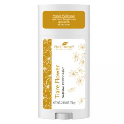 Plant Therapy® Natural Deodorant, Tiare Flower - 1 stick, 2.65oz