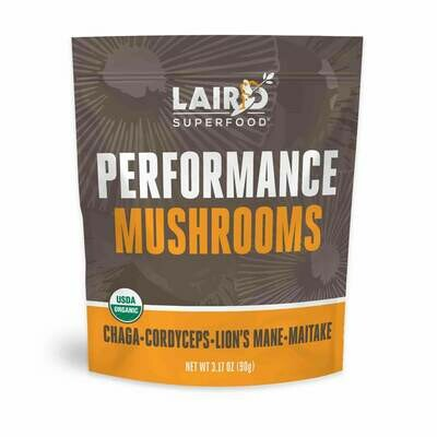 Laird SuperFood® Performance Mushrooms Beverage Booster, Functional Fuel Supplement (Energy & Cognition) 3.17 oz