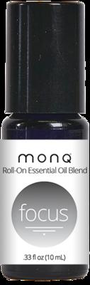 Monq® Roll on Essential Oil blend (10mL)-Focus