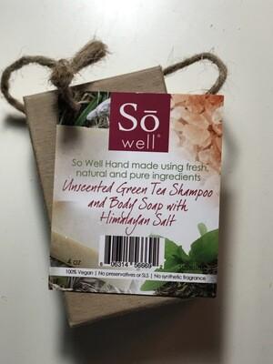 Unscented Green Tea Shampoo & Body Soap with Himalayan Salt