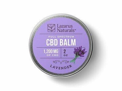 Lazarus Naturals 1200mg Full Spectrum CBD Balm, Lavender - 2oz tin