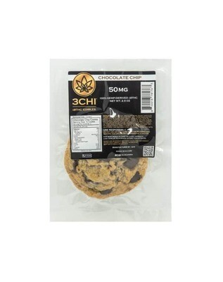 3CHI Delta 8 THC Chocolate Chip Cookie - 50MG