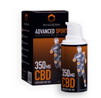 Myaderm Advanced Therapy 350mg Sports CBD Pain Cream - 0.5 oz