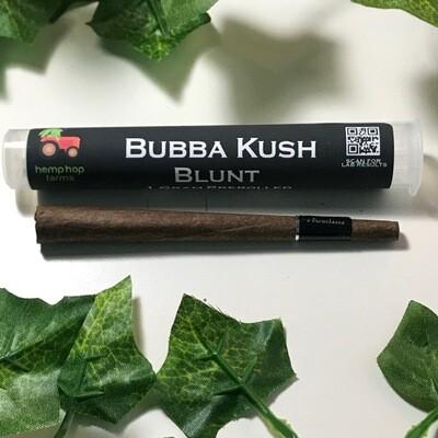 Hemp Hop Flower Pre Roll- Bubba Kush- 18.51% CBD-1g