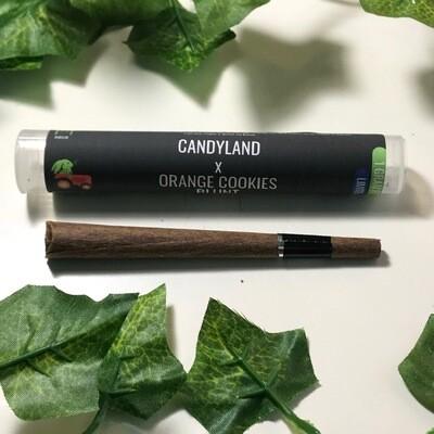 Hemp Hop Flower Pre Roll- Candyland 22% CBD & Orange Cookies 13% CBD-1g