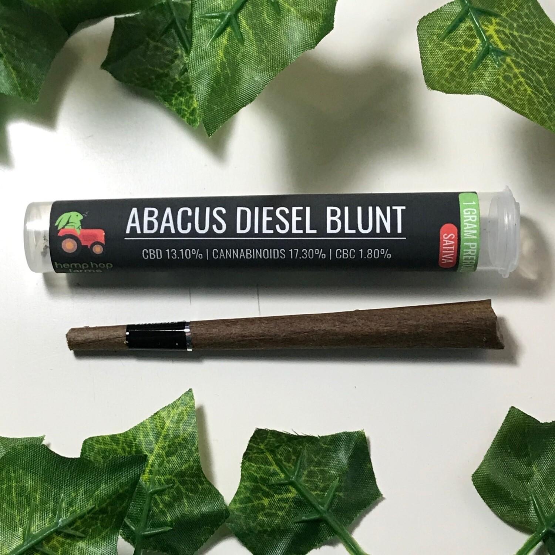 Hemp Hop Flower Pre Roll- Abacus Diesel-13% CBD 1g