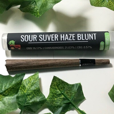 Hemp Hop Flower Pre Roll- Sour Suver Haze- 16%CBD