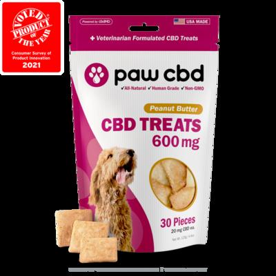 Paw CBD Dog Treats - 600MG Peanut Butter - 30ct
