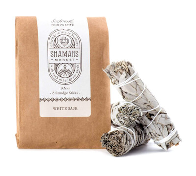 White Sage Smudge Stick - Mini 3 Pack