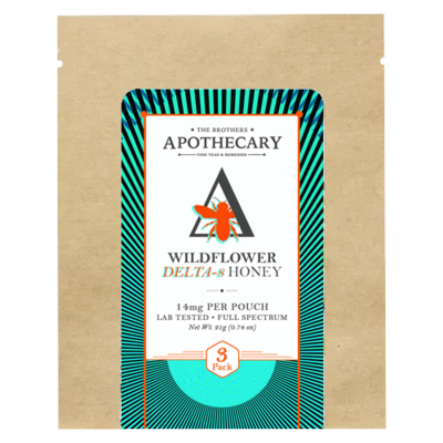 Brothers Apothecary Wildflower Delta-8 Honey - 14MG/pouch - 3 Ct.