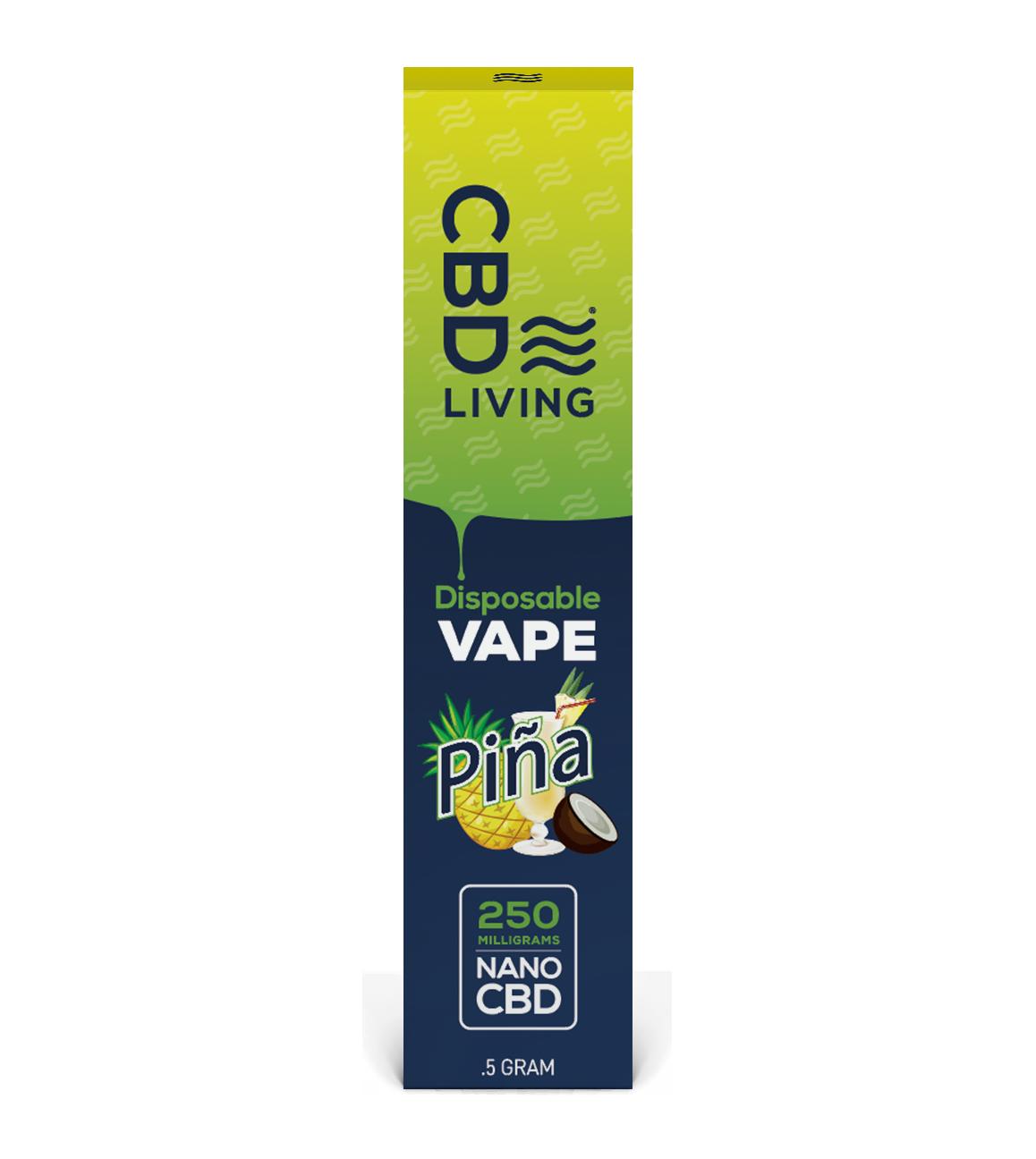 CBD Living Disposable Vape Pen - Pina 250 mg