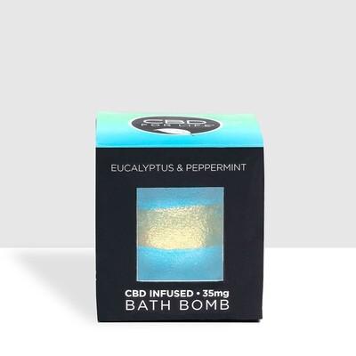 CBD For Life Eucalyptus/Peppermint Bath Bomb - 35MG