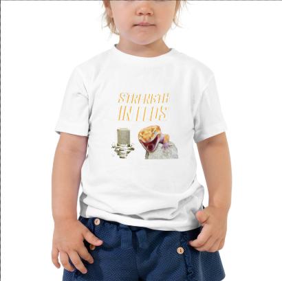 Toddler Strength In Leos Logo Tee